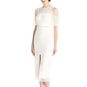 NWOT Cynthia Rowley Lace Midi Dress Front Slit